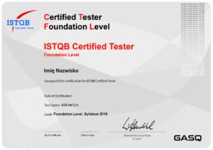 certyfikat istqb